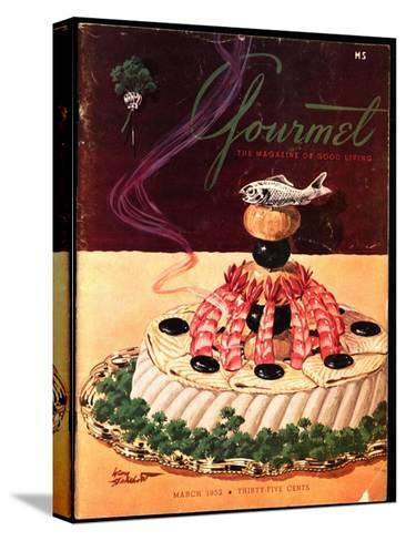 Gourmet Cover - March 1952-Henry Stahlhut-Stretched Canvas Print