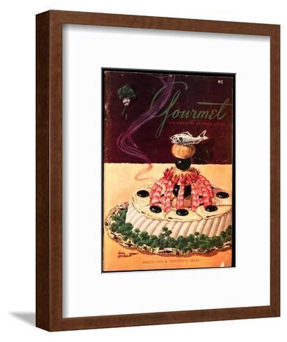 Gourmet Cover - March 1952-Henry Stahlhut-Framed Art Print