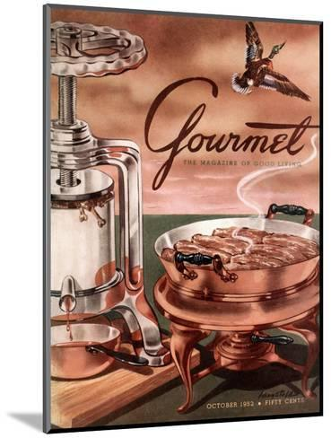 Gourmet Cover - October 1952-Henry Stahlhut-Mounted Premium Giclee Print