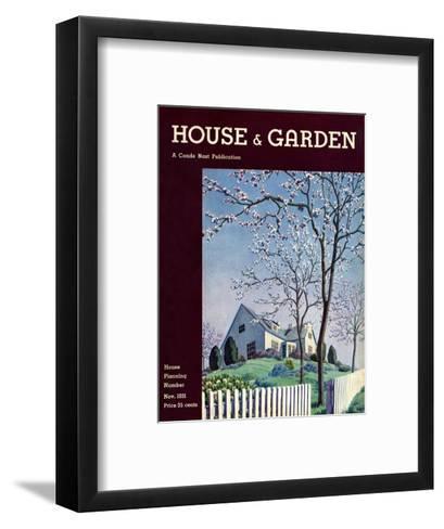 House & Garden Cover - November 1931-Pierre Brissaud-Framed Art Print