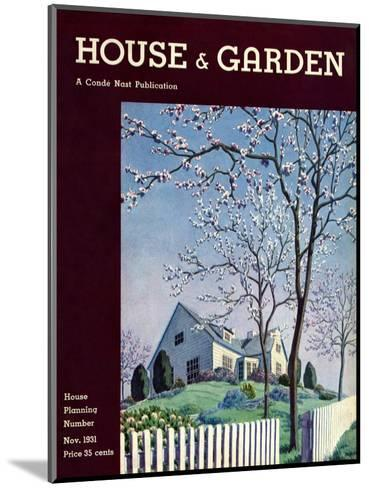 House & Garden Cover - November 1931-Pierre Brissaud-Mounted Premium Giclee Print