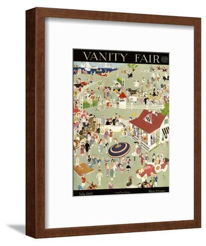 Vanity Fair Cover - July 1919-John Held, Jr.-Framed Art Print