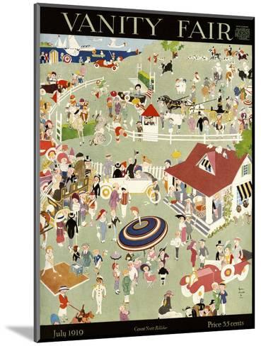 Vanity Fair Cover - July 1919-John Held, Jr.-Mounted Premium Giclee Print