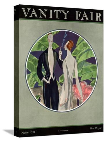 Vanity Fair Cover - March 1922-Eduardo Garcia Benito-Stretched Canvas Print
