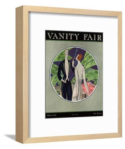Vanity Fair Cover - March 1922-Eduardo Garcia Benito-Framed Art Print