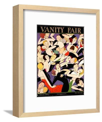 Vanity Fair Cover - February 1926-A. H. Fish-Framed Art Print