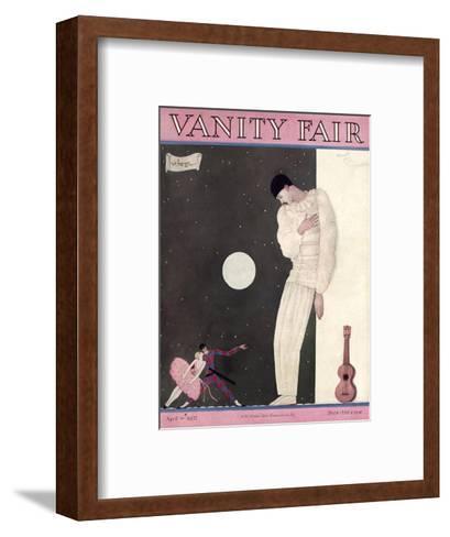 Vanity Fair Cover - April 1927-Georges Lepape-Framed Art Print