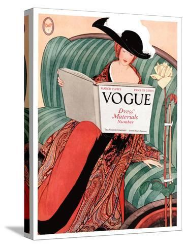 Vogue Cover - March 1912-George Wolfe Plank-Stretched Canvas Print