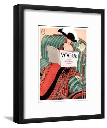 Vogue Cover - March 1912-George Wolfe Plank-Framed Art Print