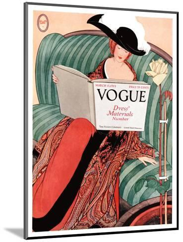 Vogue Cover - March 1912-George Wolfe Plank-Mounted Premium Giclee Print
