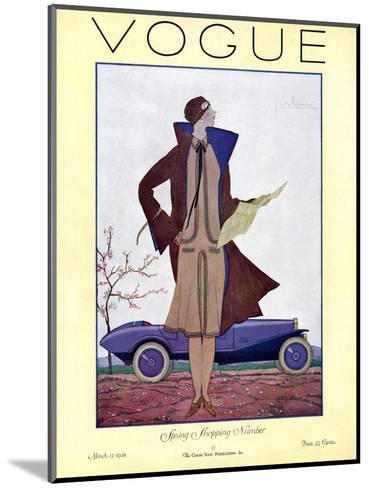 Vogue Cover - March 1926-Georges Lepape-Mounted Premium Giclee Print