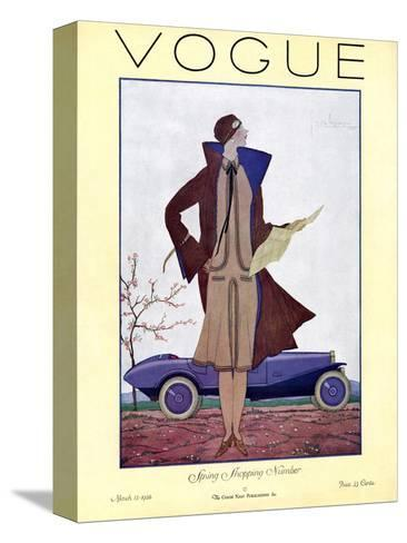 Vogue Cover - March 1926-Georges Lepape-Stretched Canvas Print