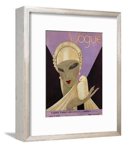 Vogue Cover - April 1927-Eduardo Garcia Benito-Framed Art Print