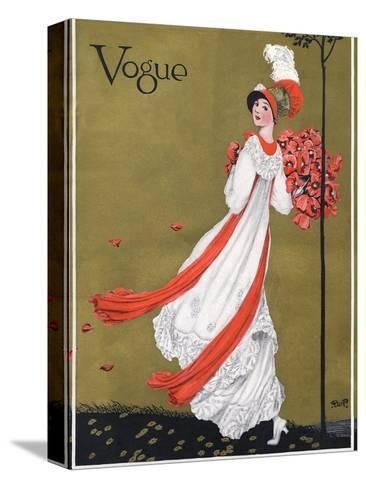 Vogue Cover - August 1911-George Wolfe Plank-Stretched Canvas Print