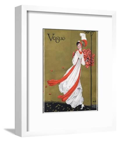 Vogue Cover - August 1911-George Wolfe Plank-Framed Art Print