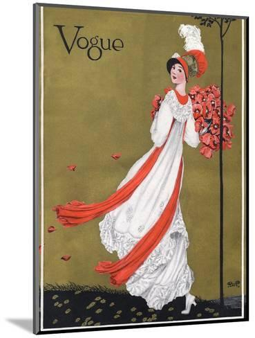 Vogue Cover - August 1911-George Wolfe Plank-Mounted Premium Giclee Print
