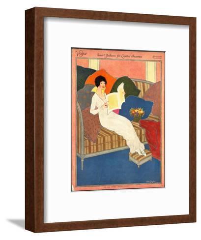 Vogue Cover - February 1913-Helen Dryden-Framed Art Print