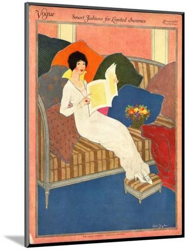 Vogue Cover - February 1913-Helen Dryden-Mounted Premium Giclee Print