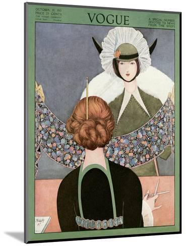 Vogue Cover - October 1913-George Wolfe Plank-Mounted Premium Giclee Print