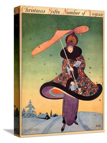 Vogue Cover - December 1913-George Wolfe Plank-Stretched Canvas Print