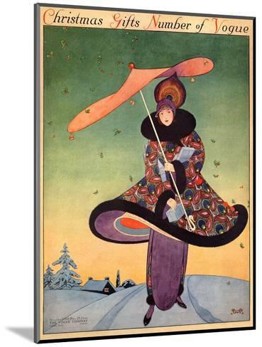 Vogue Cover - December 1913-George Wolfe Plank-Mounted Premium Giclee Print