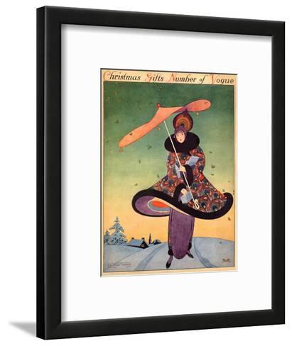 Vogue Cover - December 1913-George Wolfe Plank-Framed Art Print