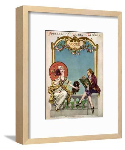 Vogue Cover - February 1914-Frank X. Leyendecker-Framed Art Print