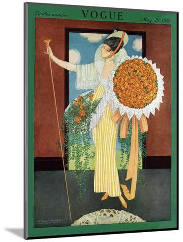 Vogue Cover - May 1914-George Wolfe Plank-Mounted Premium Giclee Print