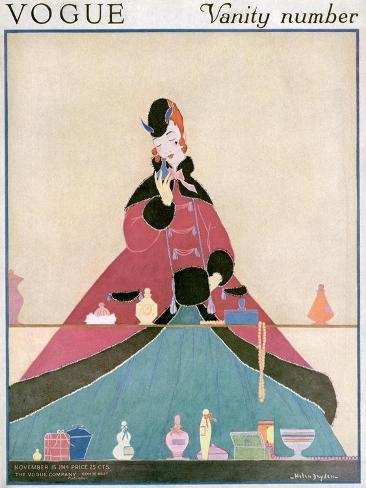 Vogue Cover - November 1914-Helen Dryden-Stretched Canvas Print