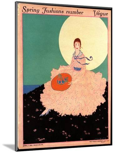 Vogue Cover - April 1915-Helen Dryden-Mounted Premium Giclee Print
