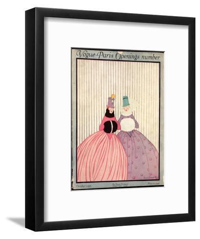 Vogue Cover - October 1915-Irma Campbell-Framed Art Print