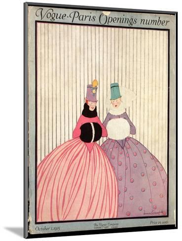 Vogue Cover - October 1915-Irma Campbell-Mounted Premium Giclee Print
