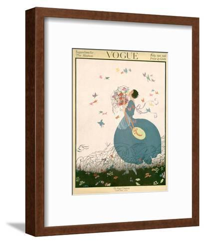 Vogue Cover - July 1916-Helen Dryden-Framed Art Print