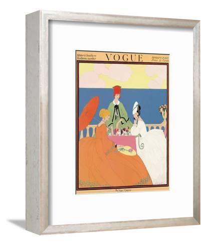 Vogue Cover - January 1917-Helen Dryden-Framed Art Print