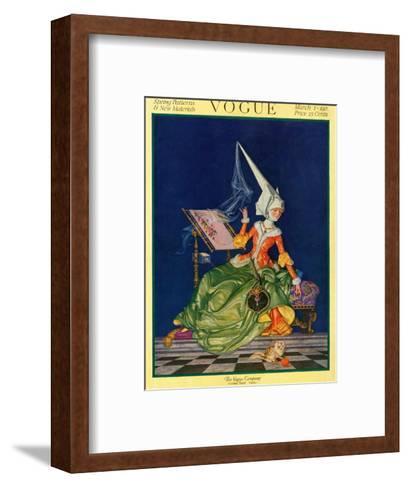 Vogue Cover - March 1917-F^x^ Leyendecker-Framed Art Print