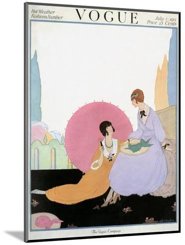 Vogue Cover - July 1917-Helen Dryden-Mounted Premium Giclee Print