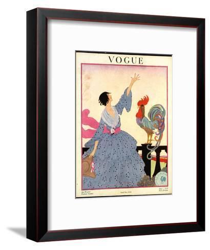 Vogue Cover - July 1918-Helen Dryden-Framed Art Print