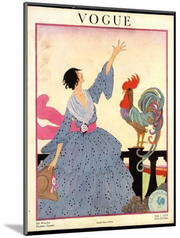Vogue Cover - July 1918-Helen Dryden-Mounted Premium Giclee Print