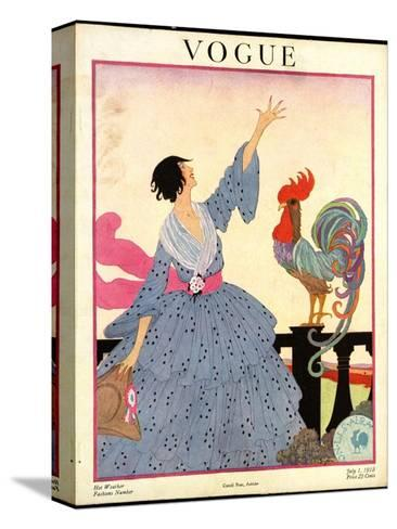 Vogue Cover - July 1918-Helen Dryden-Stretched Canvas Print