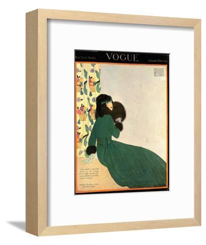 Vogue Cover - October 1918-Helen Dryden-Framed Art Print