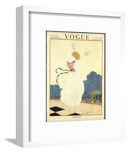 Vogue Cover - June 1919-Georges Lepape-Framed Art Print