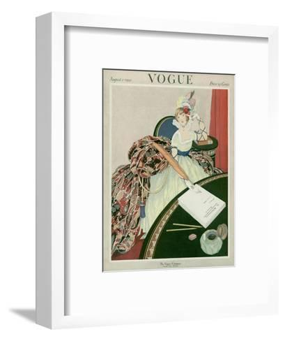 Vogue Cover - August 1921-George Wolfe Plank-Framed Art Print