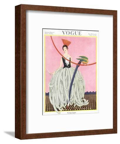 Vogue Cover - May 1922-George Wolfe Plank-Framed Art Print
