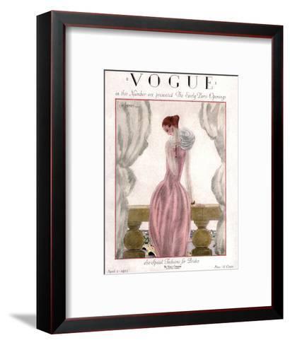 Vogue Cover - April 1923-Georges Lepape-Framed Art Print