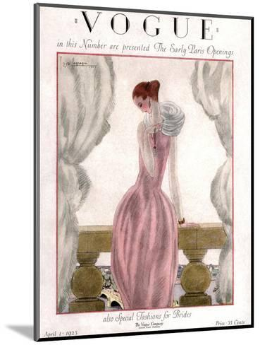 Vogue Cover - April 1923-Georges Lepape-Mounted Premium Giclee Print