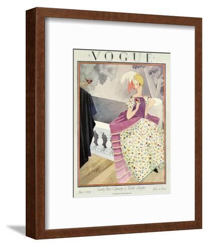 Vogue Cover - April 1924-George Wolfe Plank-Framed Art Print