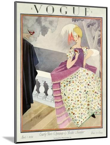Vogue Cover - April 1924-George Wolfe Plank-Mounted Premium Giclee Print