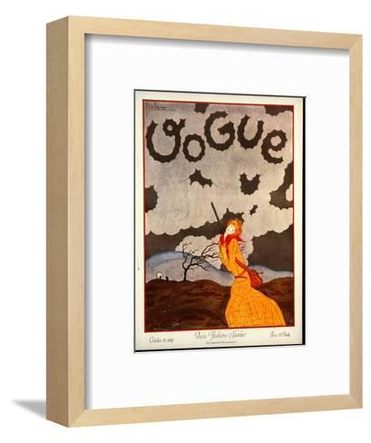 Vogue Cover - October 1924-Georges Lepape-Framed Art Print