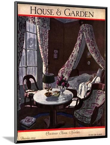 House & Garden Cover - December 1924-Pierre Brissaud-Mounted Premium Giclee Print