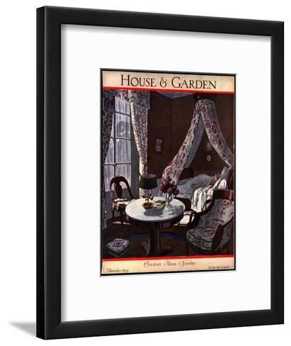House & Garden Cover - December 1924-Pierre Brissaud-Framed Art Print